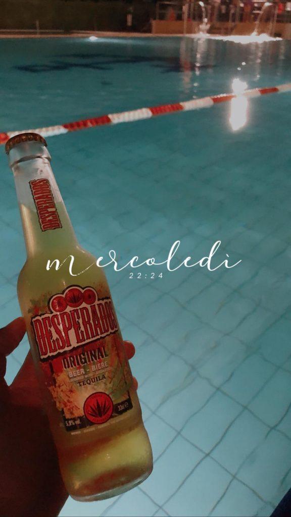 Ancora Sport Hotel birra in piscina